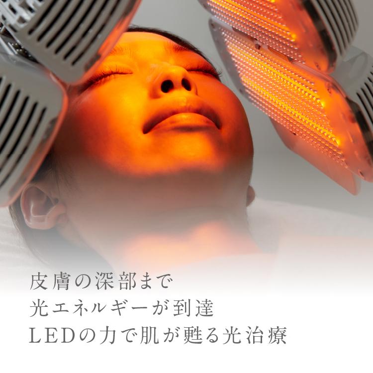 皮膚の深部まで光エネルギーが到達。LEDの力で肌が甦る、光治療。