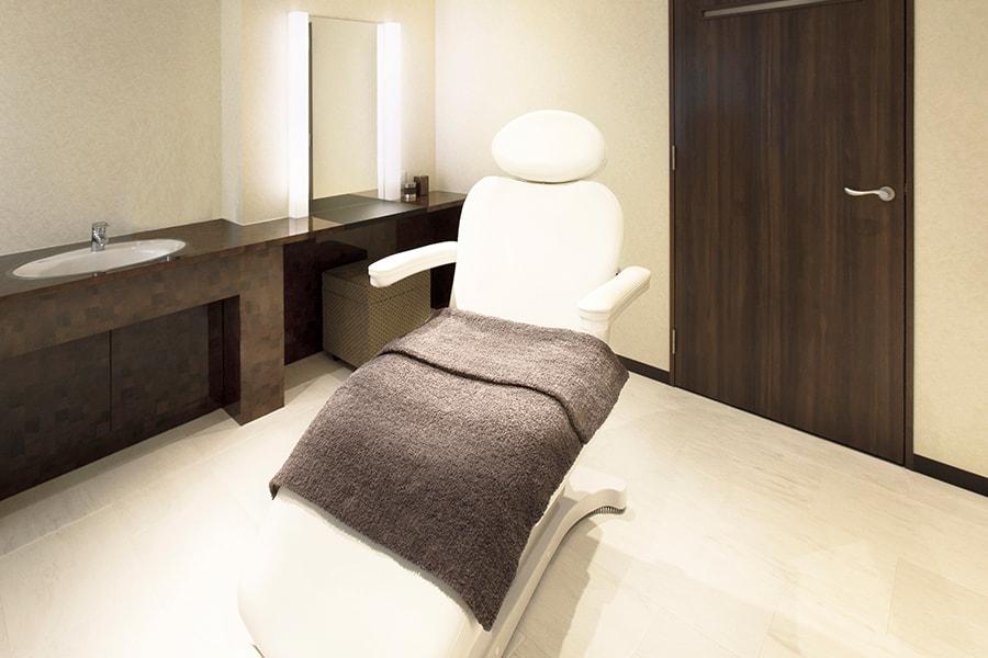 モンテプラザ:完全個室の施術室(全5部屋)
